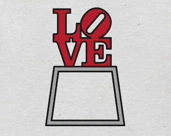LOVE Park illustrated print