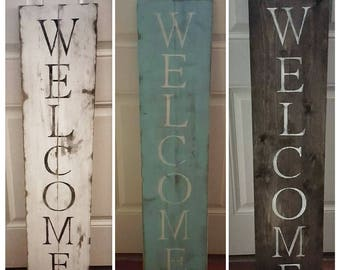 Rustic Wood WELCOME Sign for Porch | Rustic Welcome Sign | Farmhouse Welcome Sign | Porch Welcome Sign | Farmhouse Décor | Large Welcome