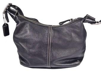 Vintage Coach Leather Shoulder Bag 9566