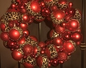 Red Wreath with Lights...