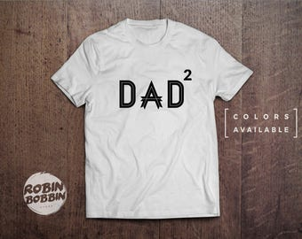 Best Dad 2 child T Shirt Mens, New Dad, Husband Gift, Awesome Dad, Funny Dad Gift, Fathers Day Gift, Gift For Him - Colors Available