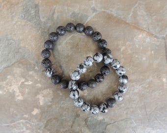 Matching Couples Bracelets, Distance Bracelets, Boyfriend Gift, Relationship Bracelets, His and Her Bracelets, Bracelet Set, Couples Gift