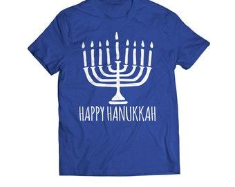 Hanukkah Kids, Hanukkah Toddler,  FREE Shipping, Happy Hanukkah Menorah Toddler Youth T-Shirt, Toddler Hanukkah gift, Kids Hanukkah gift