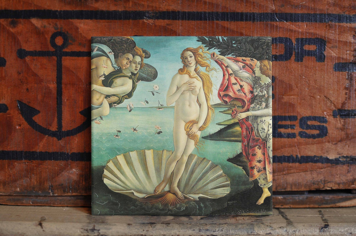 Botticelli venus ceramic tile coaster set artwork trivet hot plate botticelli venus ceramic tile coaster set artwork trivet hot plate pot stand plant splashback kitchen decor dailygadgetfo Image collections