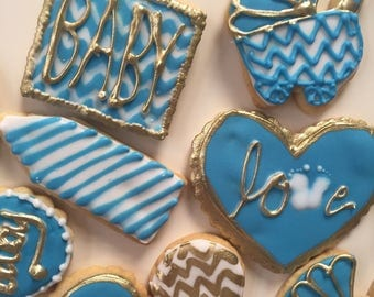 12 Baby Shower Biscuit / Cookie Favours