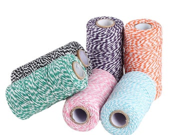 Assorted Colors Baker's Twine 4-Ply 100 Yards, Bakers Twine, Gift Wrap, Gifts, Twine, Cotton Twine, Party Favors, Party Supplies, Favors