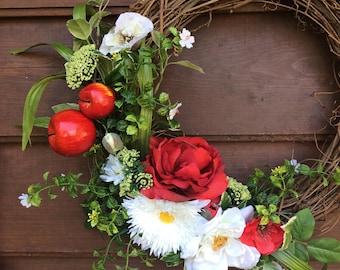 Summer Wreath - Spring Wreath - Door Hanger - Wreath - Home Decor