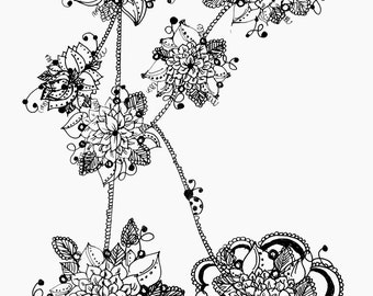 The Garden Alphabet Coloring Pages