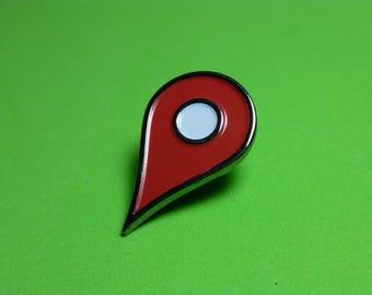 Location Navigation Pin Badge | Enamel Pin Badge | Soft Enamel Badge | Places Pin Badge  | Drop Pin Here Pin Badge |