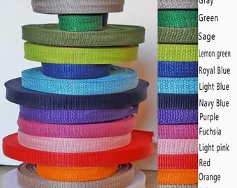 "1"" webbing 5yrd roll, polypropylene tape, straps material, nylon webbing, belt straps, nylon strap, bags straps, colored webbing, nylon tape"