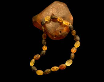 "Amber Necklace ""Healing beans"""