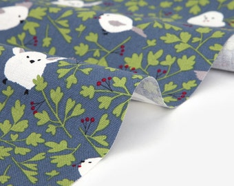 Dailylike  (oxford) - Long tailed tit fabric- 50cm