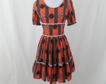 1970's Hippie Prairie Dress