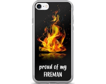 Firefighter Wife iPhone Case, Phone Case Firefighter, Fireman Phone Case, Protective iPhone Case, iPhone 7 Case, iPhone 6 Case, iPhone 5,