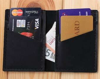 Credit card wallet, men's wallet, minimalist wallet, slim bifold wallet, slim leather wallet, bifold wallet, minimalist bifold wallet