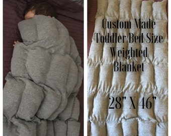 Toddler Bed Size Weighted Blanket! Custom Made To Order weighted blanket! 9 colors to choose from! Autism blanket