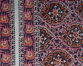 Luxurious Hand Block Bedsheet (9ft x 9ft), Tapestry - 100% Cotton