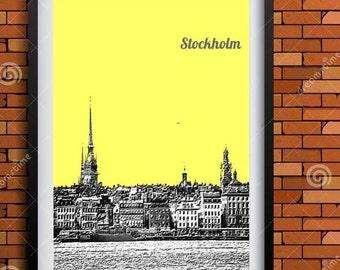 Stockholm Sweden   Skyline Poster