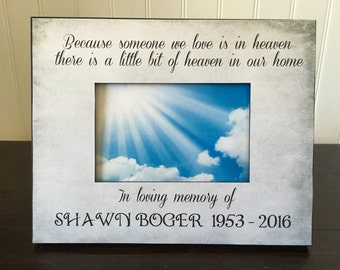 Personalized Memorial picture frame  // remembrance gift // bereavement frame // sympathy gift // in loving memory of //  4x6