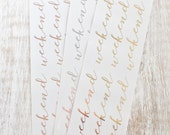 Weekend Banners Foiled | Planner Stickers