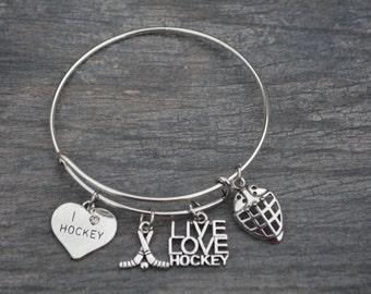 Hockey Gift -Hockey Bracelet –Hockey Gift - Perfect for Hockey Players, Hockey Coaches & Team Gifts