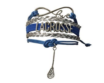 Lacrosse Gift -Lacrosse Bracelet - Lacrosse Jewelry- Girls Lacrosse- Perfect for Lacrosse Players, Lacrosse Coaches &  Lacrosse Team Gifts
