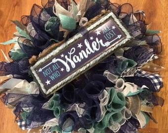 Not All Who Wander are Lost Wreath
