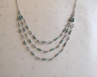 Resistor Tri-Strand Necklace