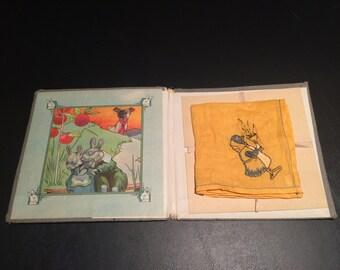Antique Child's Handkerchief in Presentation Folder c 1836-1843