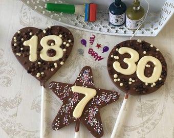 Birthday Number Chocolate Lollipop