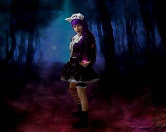 Deep Purple Gothic Lolita Skirt