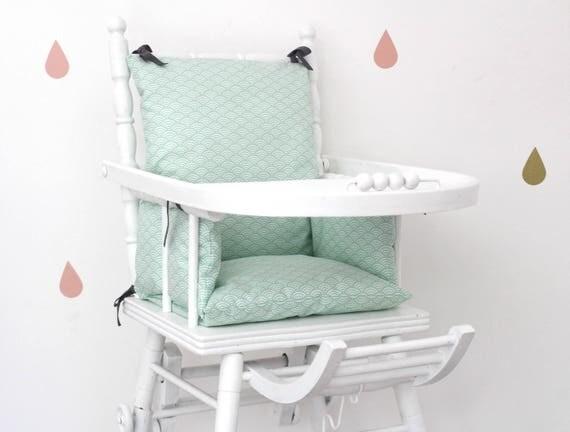coussin chaise haute enfant tissu enduit tissu japonais. Black Bedroom Furniture Sets. Home Design Ideas