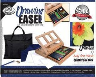 Easel Art Set W/Easy To Store Bag-Drawing