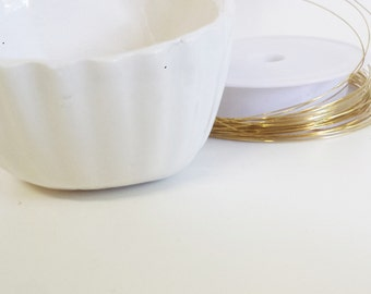 2 meters of golden copper wire - 2 meters of gilded copper wire