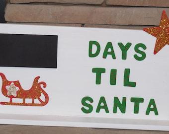 Days Until Santa Etsy