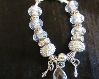Crystal Large hole Bracelet