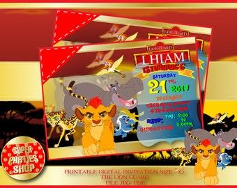 The Lion Guard personalized Digital  invitation ,the lion guard invitation ,Lion King invitation ,the lion guard Party,kion party,simba