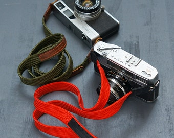 Personalized : Camera strap neck handmade for mirrorless camera, fixed lenght. Make special for birthday gift