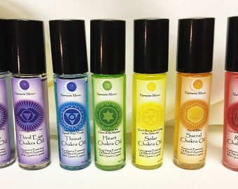 Have one to sell? Sell now Chakra Oil Set from Namaste Moon! All Hand Made with Essential Oils!