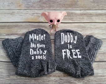 Harry Potter Dobby socks, house elf, Dobby is free, HP, Dobby, bookish gift, Master has given Dobby a Sock, harry potter, bookstagram