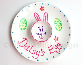 Personalised Easter Egg Cup/ Flat Egg Cup/ Egg Saucer