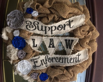 Support Law Enforcement Wreath