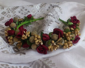 Ukrainian wreath/Hair decoration/Ukrainian accessory/Wreath for girls and women/floral headband/accessory for ukrainian embroidery