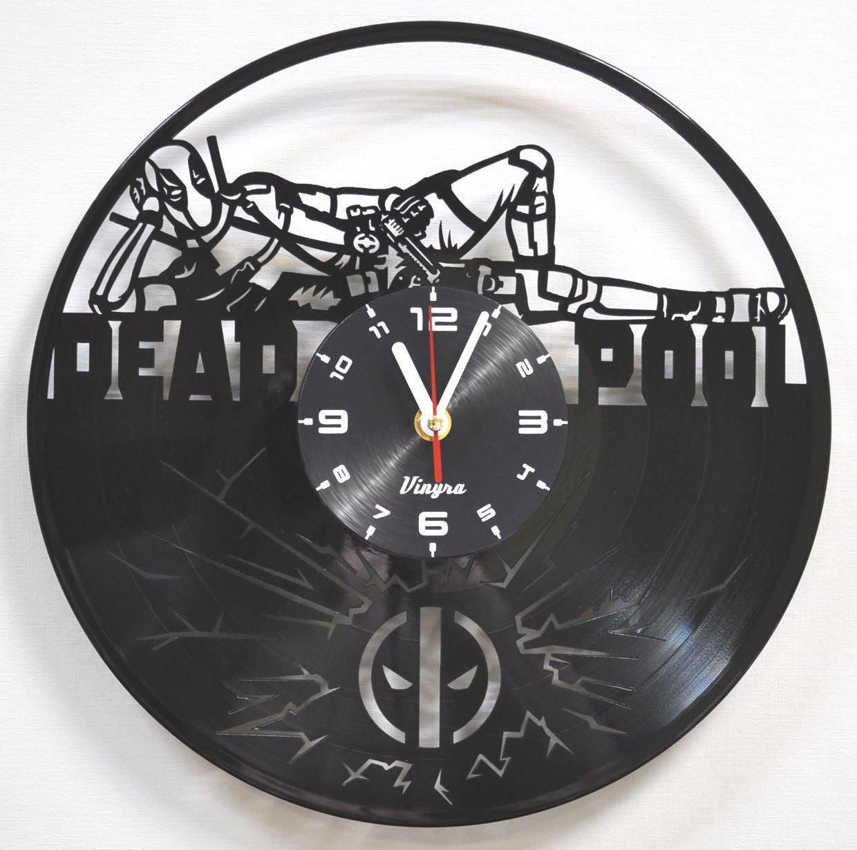 Deadpool vinyl record clock deadpool wall clock marvel wall zoom amipublicfo Images