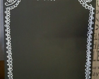 A4 Chalkboard Hand Decorated Shabby Chic Blank Large Blackboard