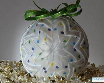 Hand-Crafted Quilted Ornament - My Polka-dots