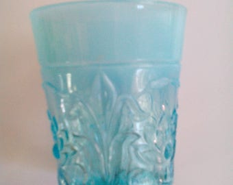 Carnival Glass Tumbler - Waterlily and Cattails