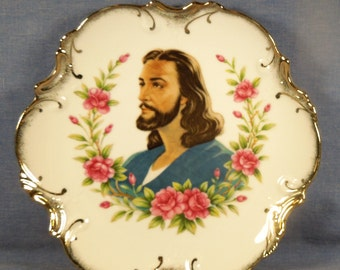 Beautiful Decorative Dish with image of Jesus