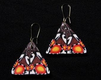 Kaleidoscope triangle earrings