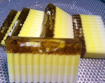 Lemon  Soap & Calendula Soap.Lemon Pie. Soap Loaf.Color Block Soap.Huge Block Contain 4-5 Pieces.Men Gift,Women Gift